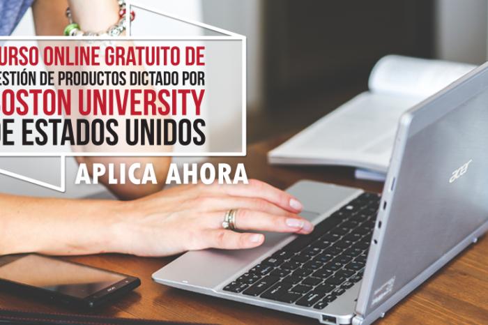 """Curso Online Gratis """"Gestión de Productos"""" Boston University  Estados Unidos"""