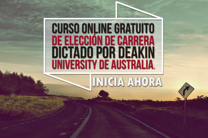 """Curso Online Gratis """"Elección de Carrera"""" Deakin University Australia"""