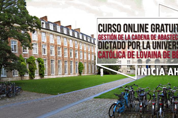 """Curso Online Gratis """"Gestión de la Cadena de Abastecimiento"""" Universidad Católica de Lovaina Bélgica"""